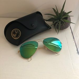 Ray-Ban Sunglasses, RB3025 AVIATOR MIRROR + CASE
